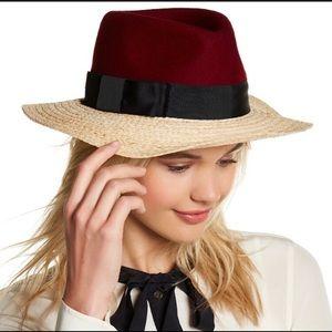 Kate Spade ♠️ straw wool hat